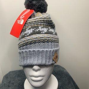 THE NORTH FACE Pom Knit Beanie Hat-OSFM Ret@$30